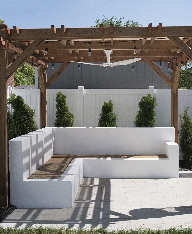 Concrete Outdoor Sofa Update Backyard Seating Backyard Decor