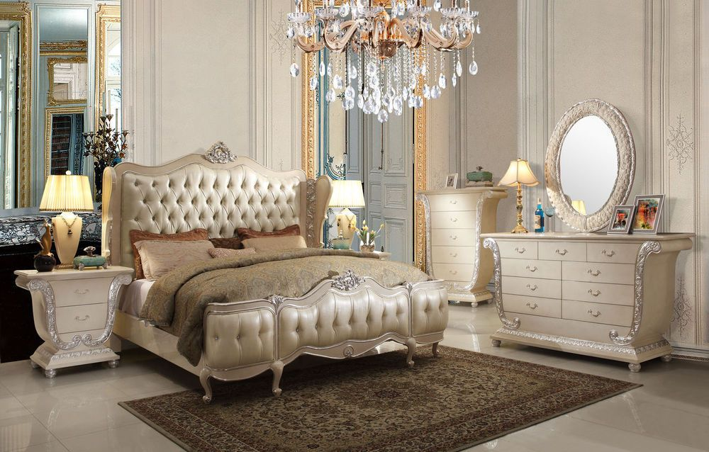 Homey Design 6 PC Traditional Queen Shelter Bedroom Set eBay