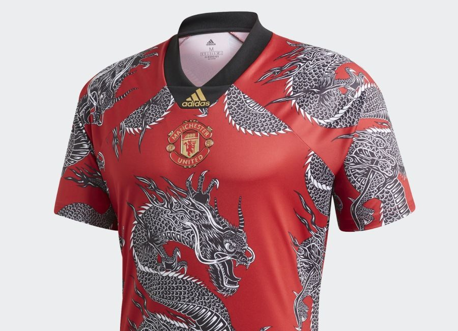 Adidas Manchester United Cny Jersey Real Red Manchester Manchester United Clothes