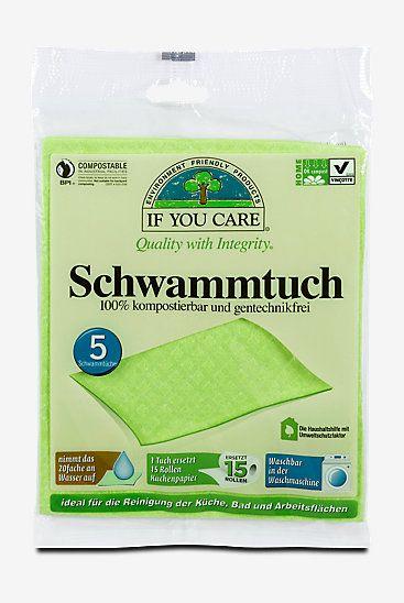 If you care 100  kompostierbare Schwammtücher, Tücher, Schwämme - k chen g nstig kaufen online