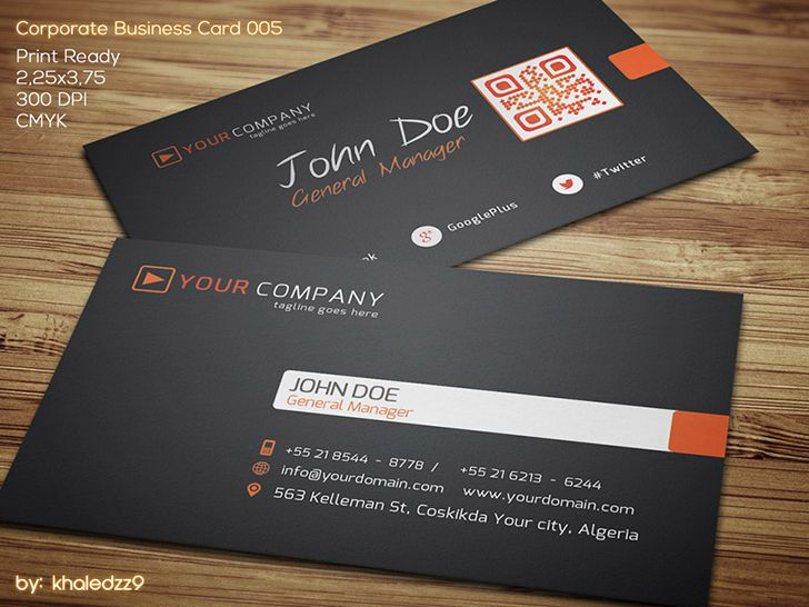 Stylish D Keller Williams Business Card Template With Embedded QR - Business card with qr code template