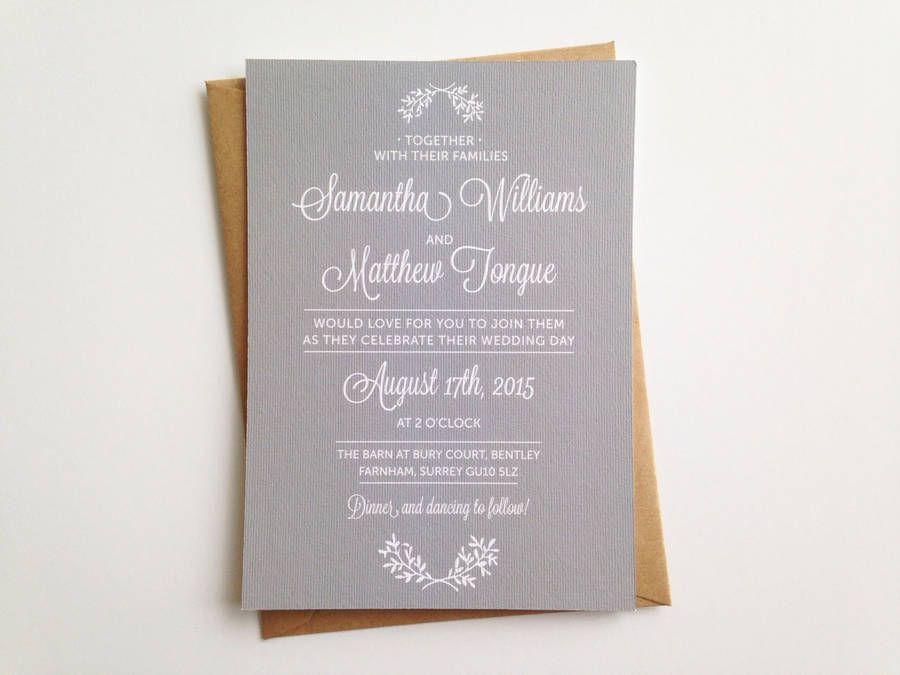 Perfect Day Wedding Invitation Wedding and Wedding