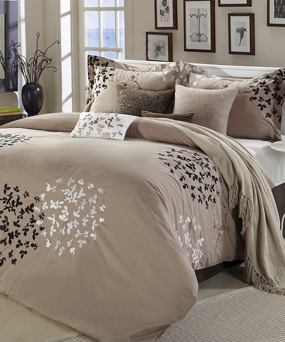 Taupe Cheila Comforter Set Cheap Bedroom Sets Comforter