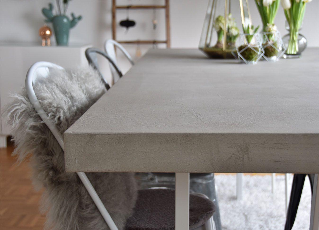 Forbeton destiné diy - tischplatte in betonoptik   diy - furniture   pinterest   diy