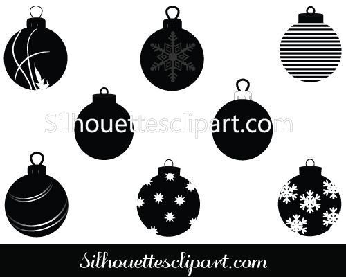 Christmas Ornament Vector Graphics Silhouette Clip Art Christmas Vectors Christmas Graphics Silhouette Clip Art