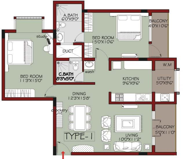 Habitat For Humanity Home Plans Floor Plans Trinity