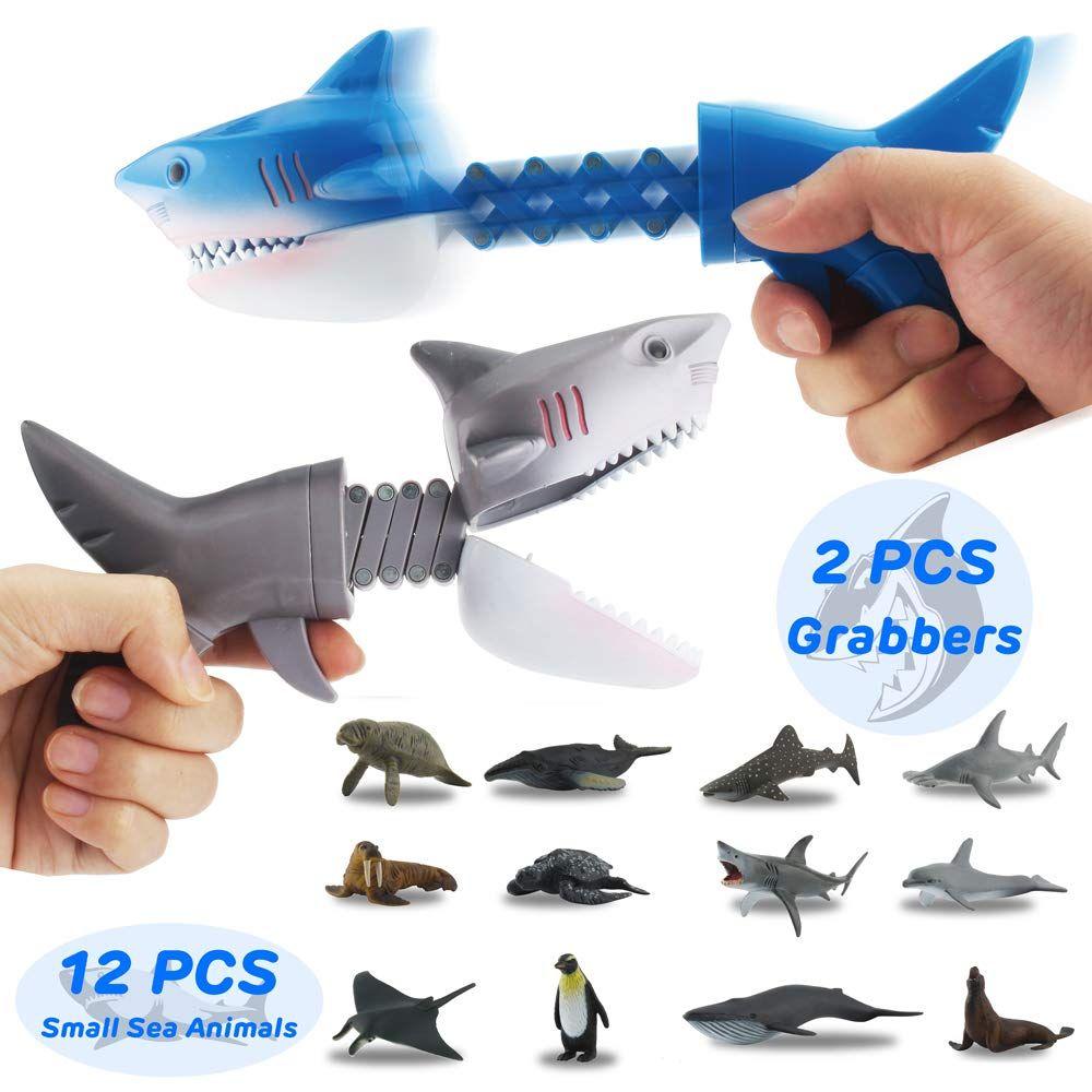 10 Pcs//set New Interesting Ocean Animal Finger Puppets Family Games Kids Toy Fun