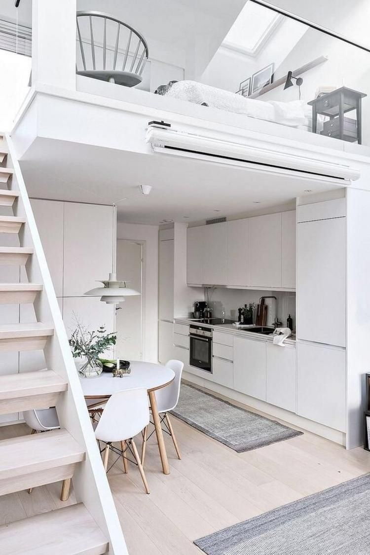 59 Elegant Scandinavian Interior Design Decor Ideas For Small Spaces Page 59 Of 63 Loft Interiors Loft Design Tiny House Design