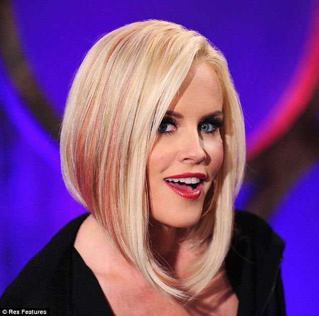 Pop of pink wild child jenny mccarthy shows off asymmetric crop cropped jenny mccarthy revealed a pink streaked asymmetric cut during a thursday taping of pmusecretfo Images
