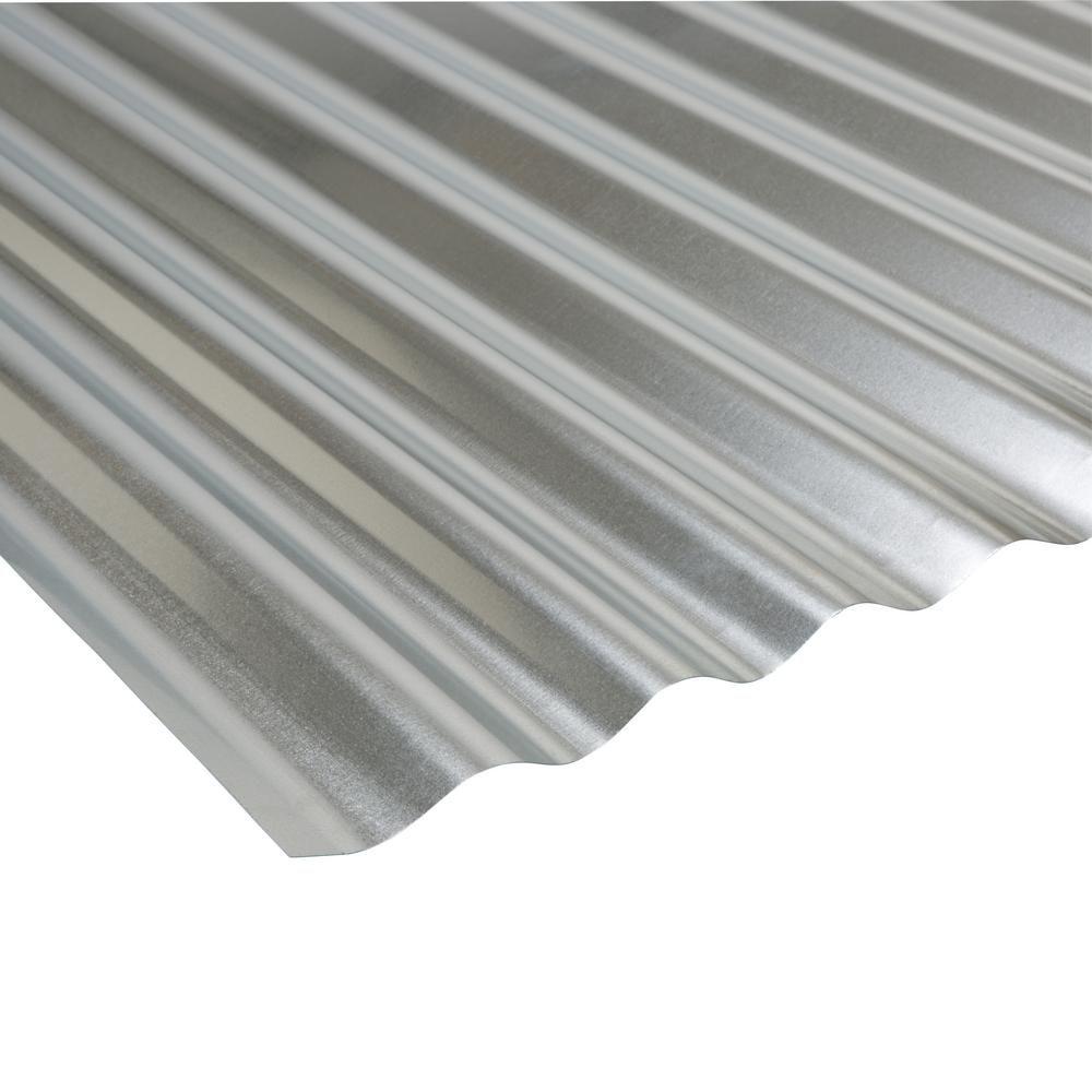 Amerimax Project Panel Corrugated 3 ft. Galvanized Steel