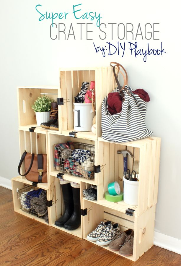 Get Organized With Budget Friendly Storage Made From Wooden Crates Diy Teen Room