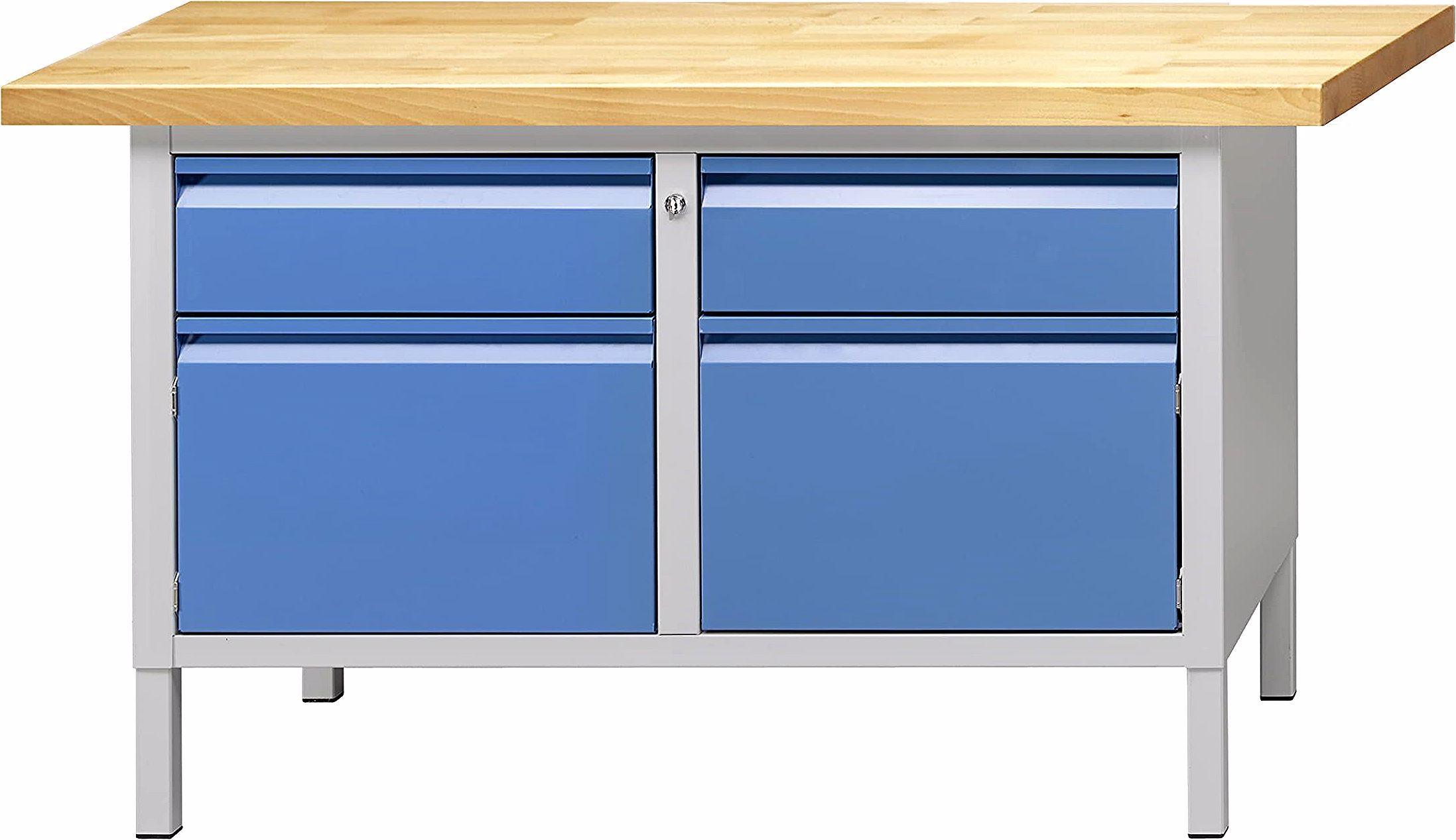 Etabli Professionnel De Marque Anke Avec Deux Compartiments Similaires Avec Un Tiroir Et Un Placard En Dessous En Couleur Bleue C In 2020 Furniture Home Decor Decor