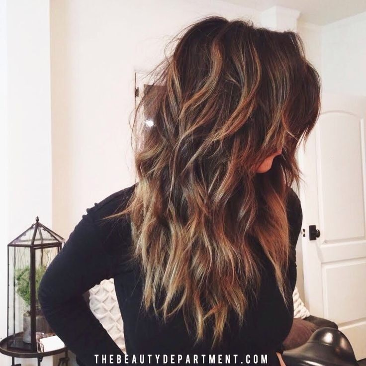 Chic Layered Haircuts for Long Hair - 2015 Wavy Hairstyles for Women