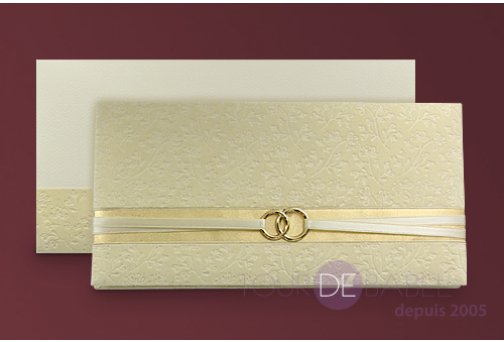 Invitation Ivoire grand luxe Faire Part Mariage Luxe