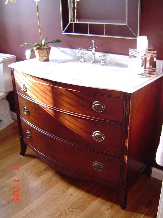 Dresser Turned Bathroom Vanity Tutorial: Dresser Turned Into Vanity Design, Pictures, Remodel