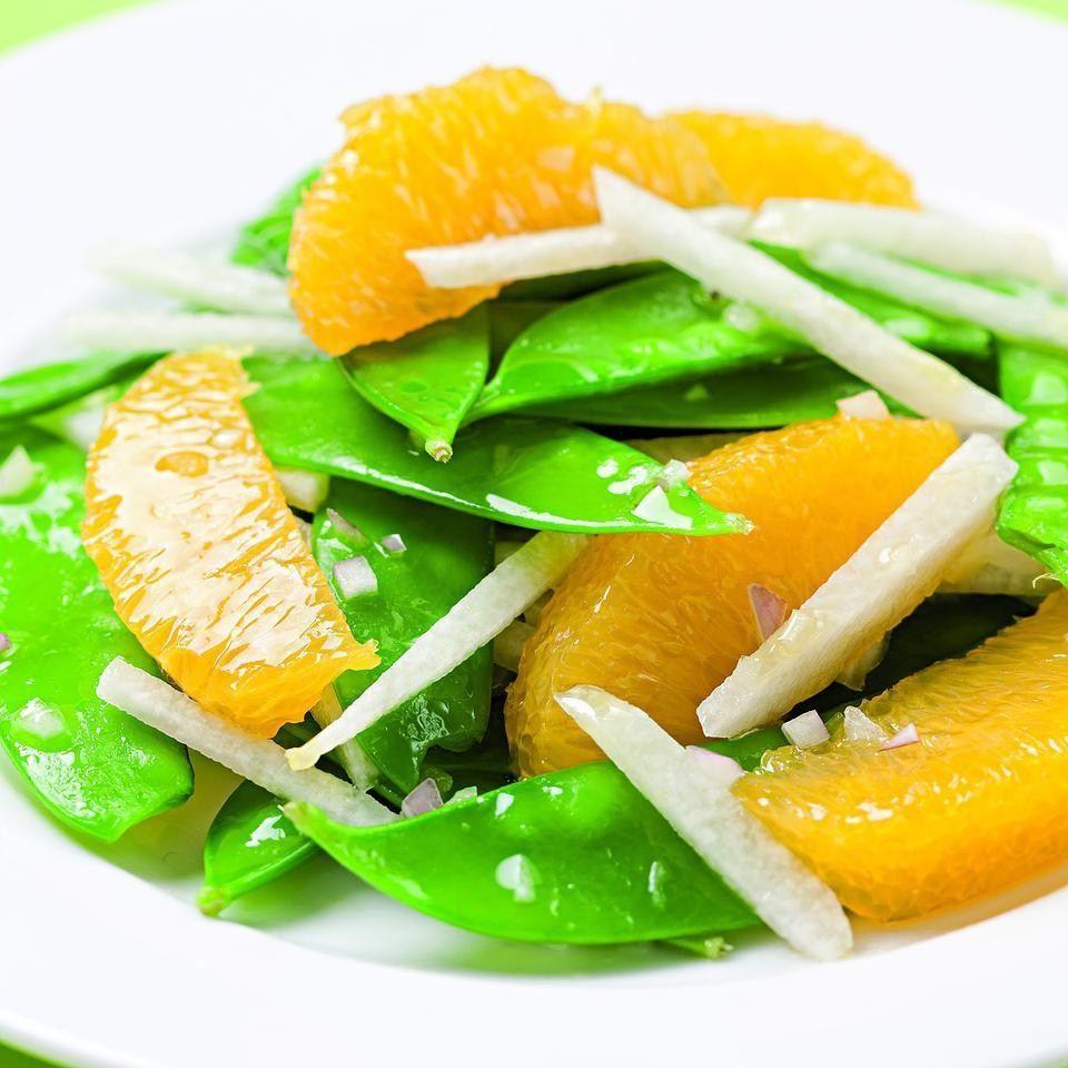 Snow Pea, Orange & Jicama Salad | Recipe | Simple side ...