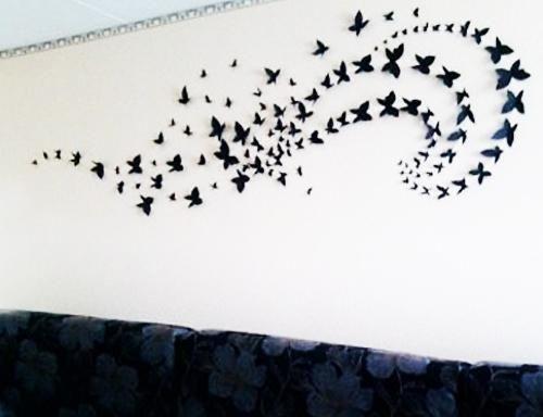 Handmade Butterflies Decorations On Walls Paper Craft Ideas Handmade Home Handmade Home Decor Decor Crafts