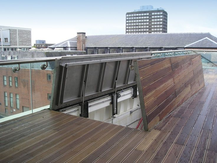 Lovely Roof Deck Access Idea From Interior Of Home