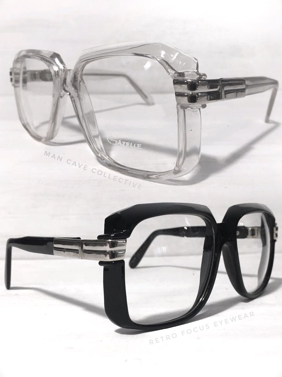 ac8b3be60fe4 Square oversized eyeglasses. Thick geek hipster statement eyeglass frames  in black or crystal clear. Gazelle is the name