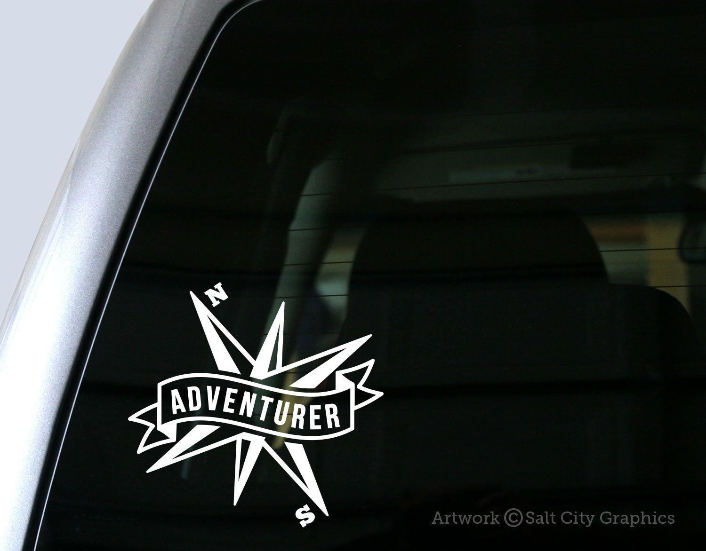 Adventurer Banner With Compass Vinyl Sticker Vinyl Decal Etsy Car Decals Vinyl Vinyl Decals Vinyl [ 1172 x 1500 Pixel ]