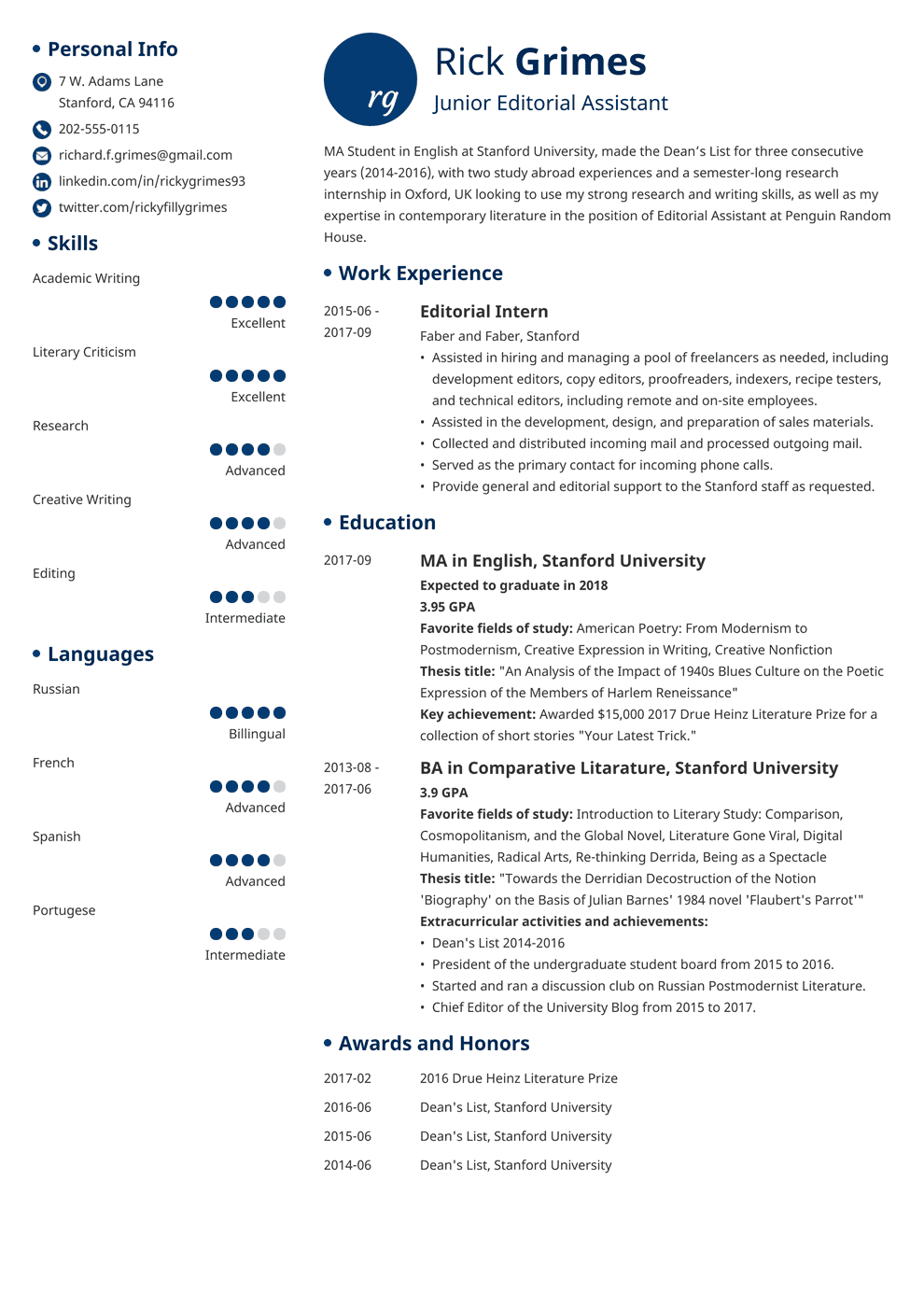 entry level resume template initials in 2020 Resume