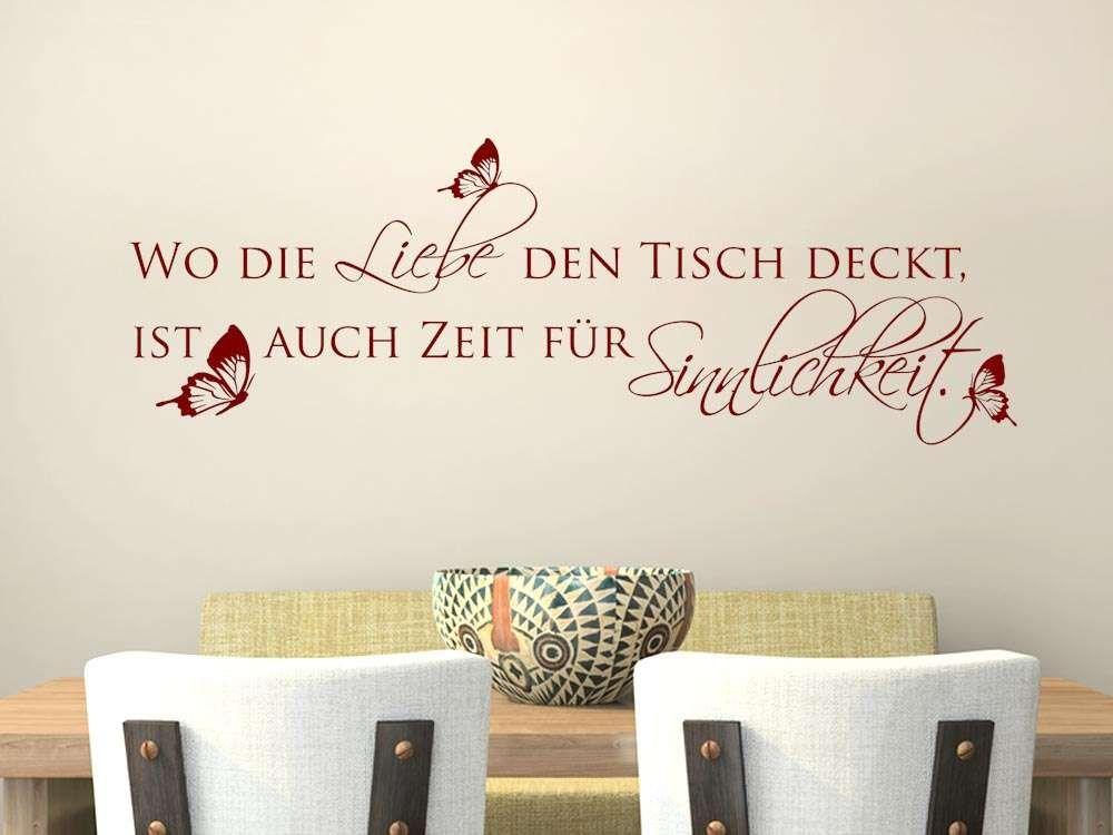 Wandtattoo Küche Wandspruch Wo die Liebe den Tisch deckt Sprüche