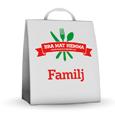 Familjekassen från Bra Mat Hemma är en väldigt populär matkasse som passar alla familjer oavsett storlek. Den passar även bra som julklapp! Vill du veta mer om matkassen kan du läsa mer här: http://matkassarna.com/matkasse/bra-mat-hemma-familjekassen/