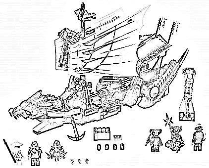 lego ninjago coloring pages cole zx 3 - Ninjago Coloring Page