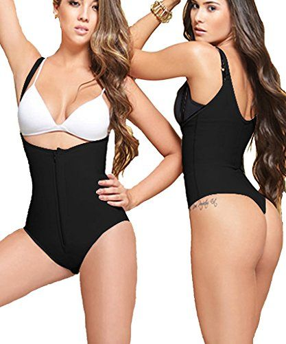e680896bf66 LAZAWG Body Briefer Firm Control Shapewear Full Body Shaper Thong Bodysuit      To view further for this item