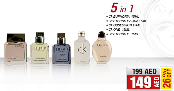 Calvin Klein 5pcs Perfume Set For Men @ AED 149/- only! Buy NOW ➜ bit.ly/1jXTU9y