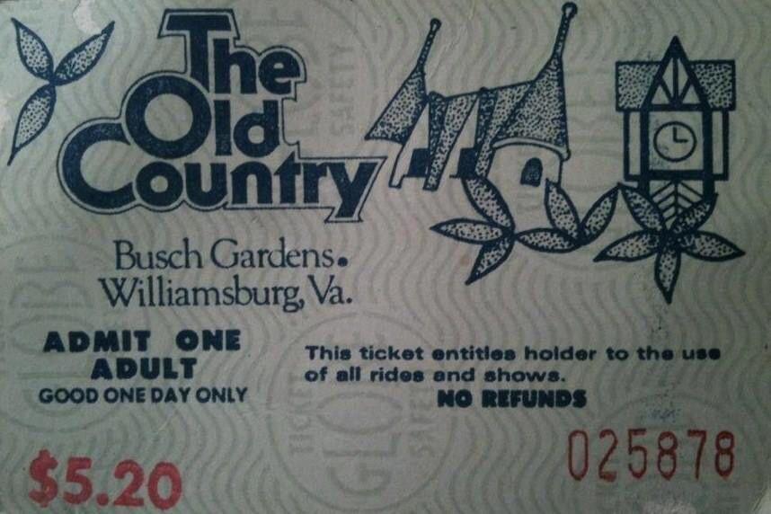 Busch Gardens Williamsburg One Day Pass Price