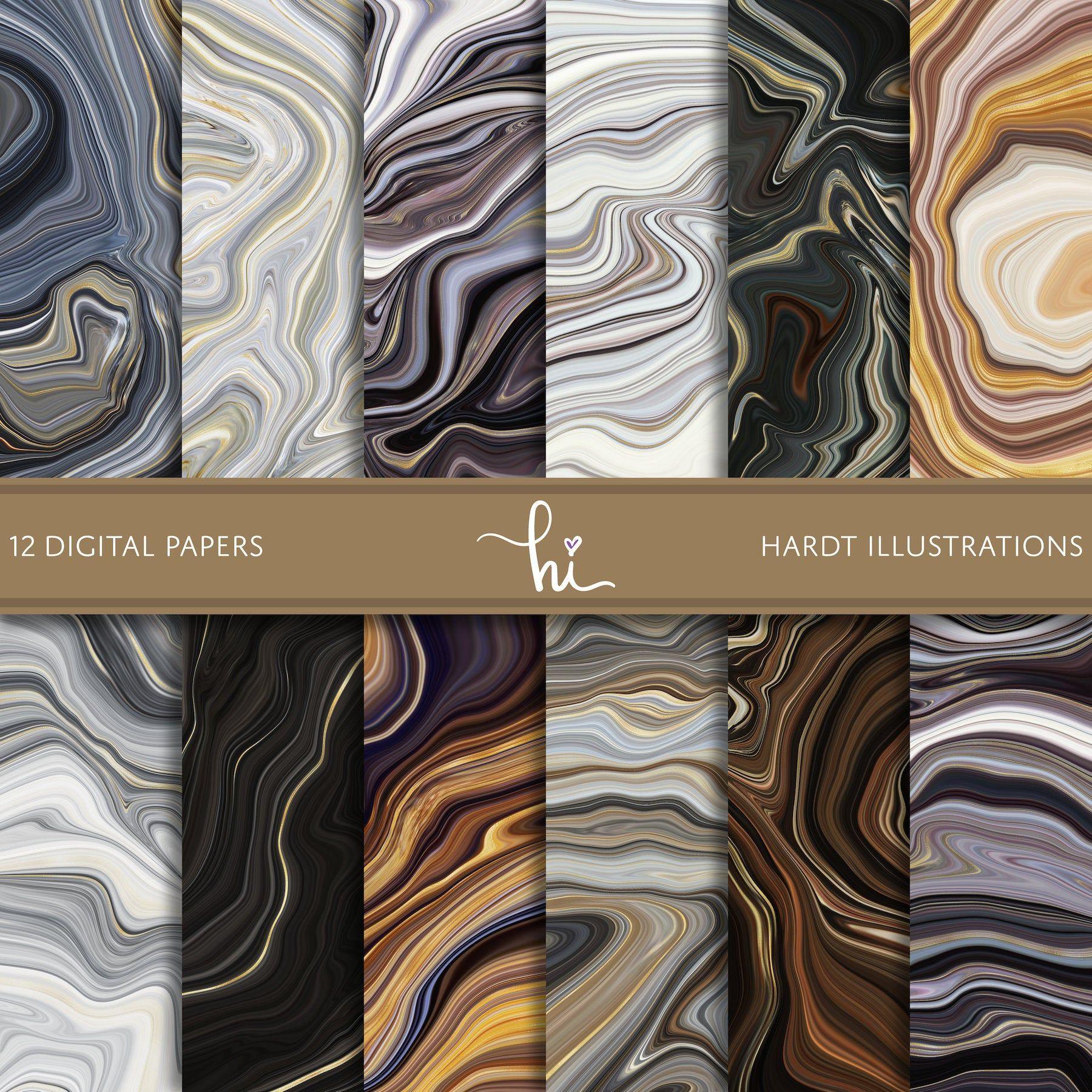 Neutral Swirls Digital Paper Marble Digital Paper Marble Etsy In 2020 Rock Textures Digital Paper Printable Scrapbook Paper
