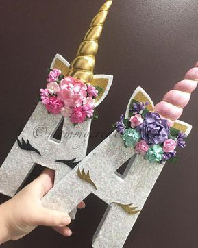This listing is for only Unicorn Letters that include the padded horn & floral headband. Please include color of glitter, and horn youd like for your letters in the note to seller box at check out. - If you have more than 8 letters please contact me to set up a custom listing for