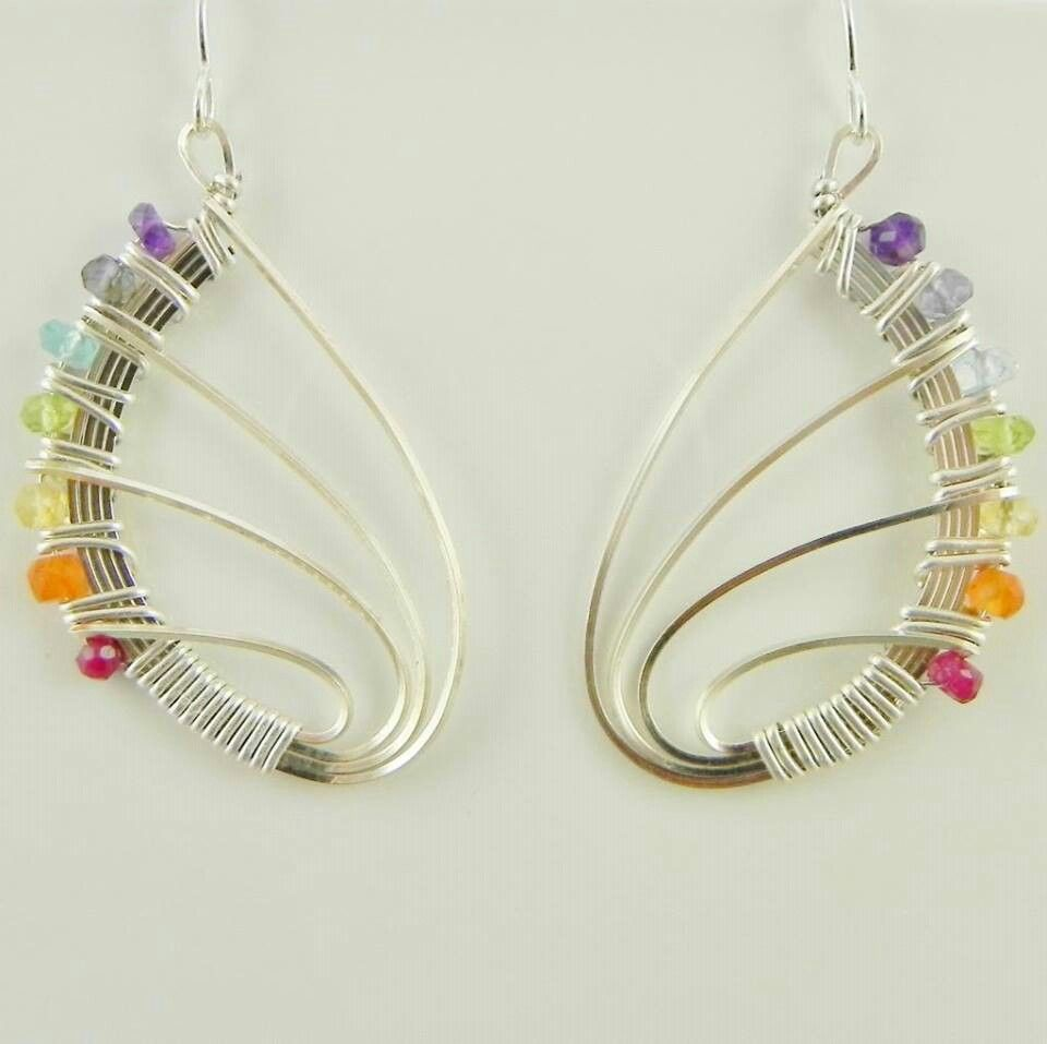 Butterfly Wing Earrings You Can Do This! Nomadbeads ~