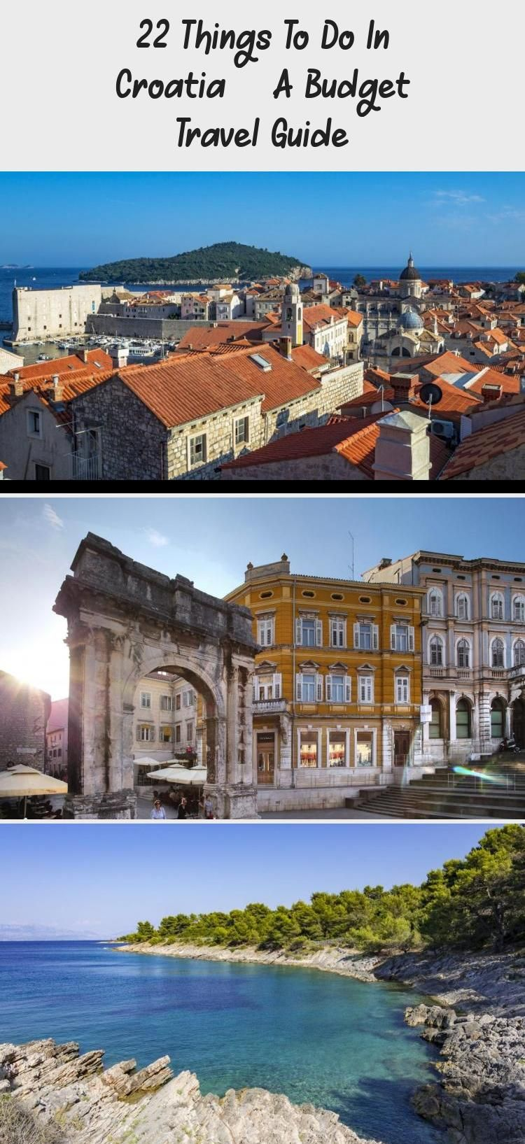 Croatia Travel The Best Places To Visit In Croatia On A Budget Dubrovnik Split Zagreb And More A Cool Places To Visit Budget Travel Family Family Travel