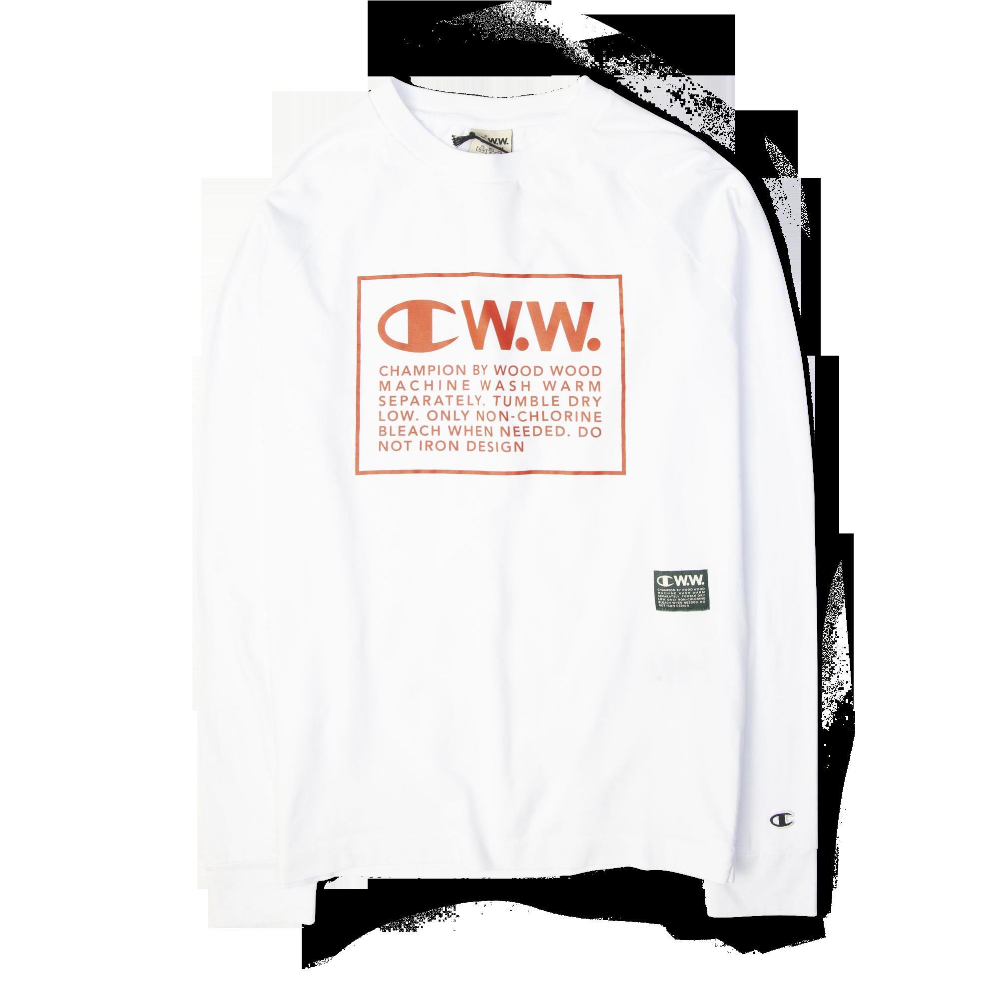 76bab5bc2448 Champion X Wood Wood Long Sleeve Box Logo Tee White Free SHIPPING OVER  £50.00 #1856 #grants1856 #grants