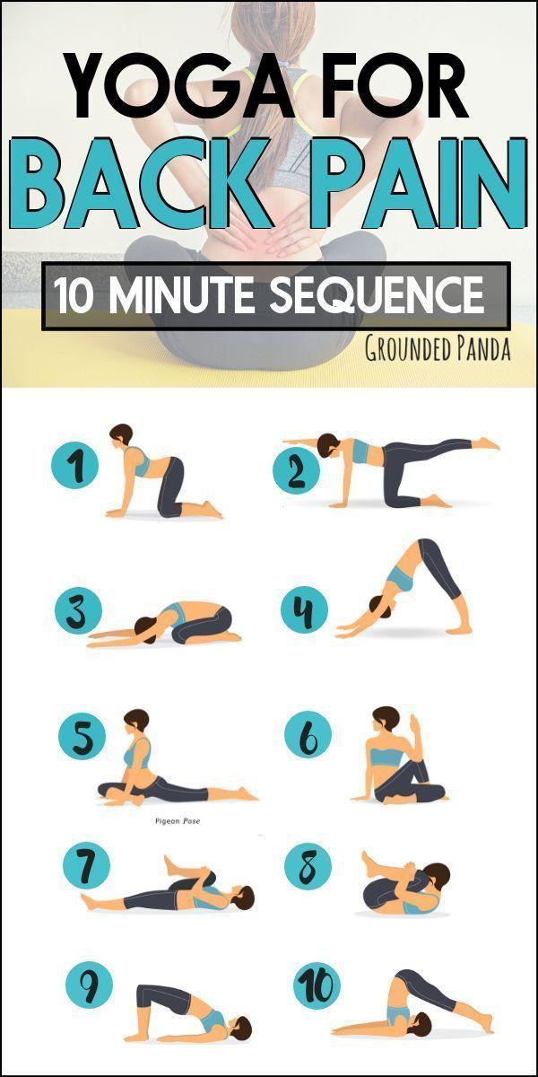 10 Minuten Anfänger Yoga-Routine zur Linderung von Rückenschmerzen - # Anfänger #Ease # Für Anfänger...