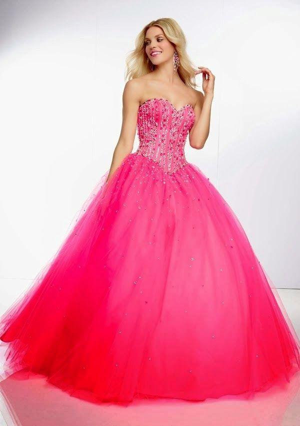 Vestidos de fiesta color rosa neon