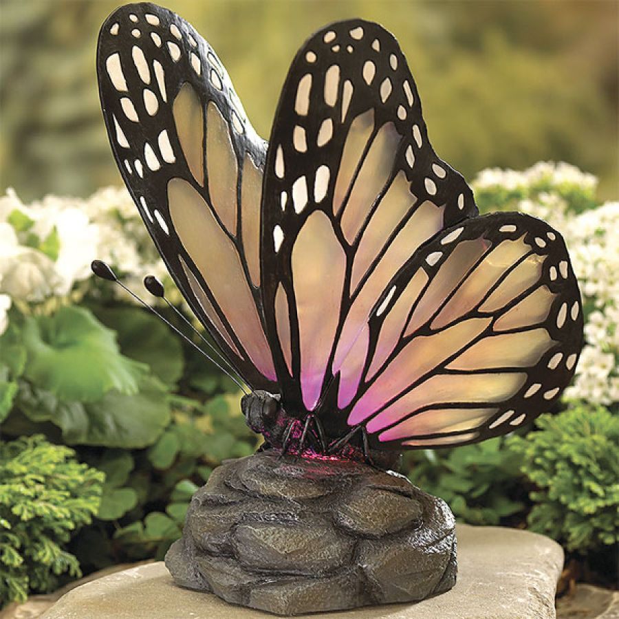 Solar Butterfly Garden Figure Outside Assessories