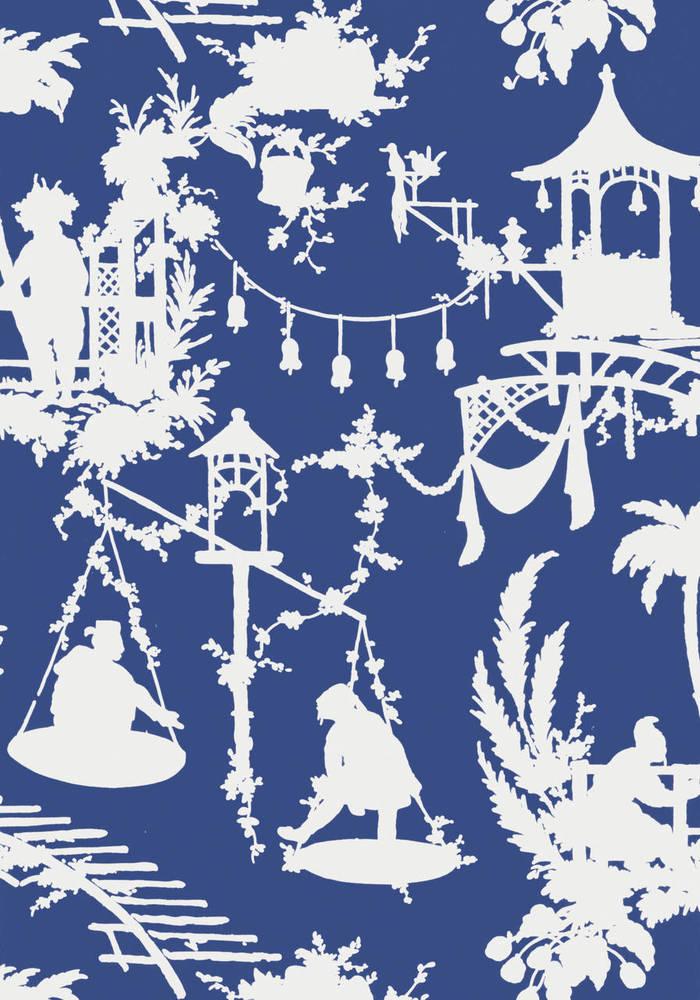 South sea navy Wallpaper, Thibaut wallpaper