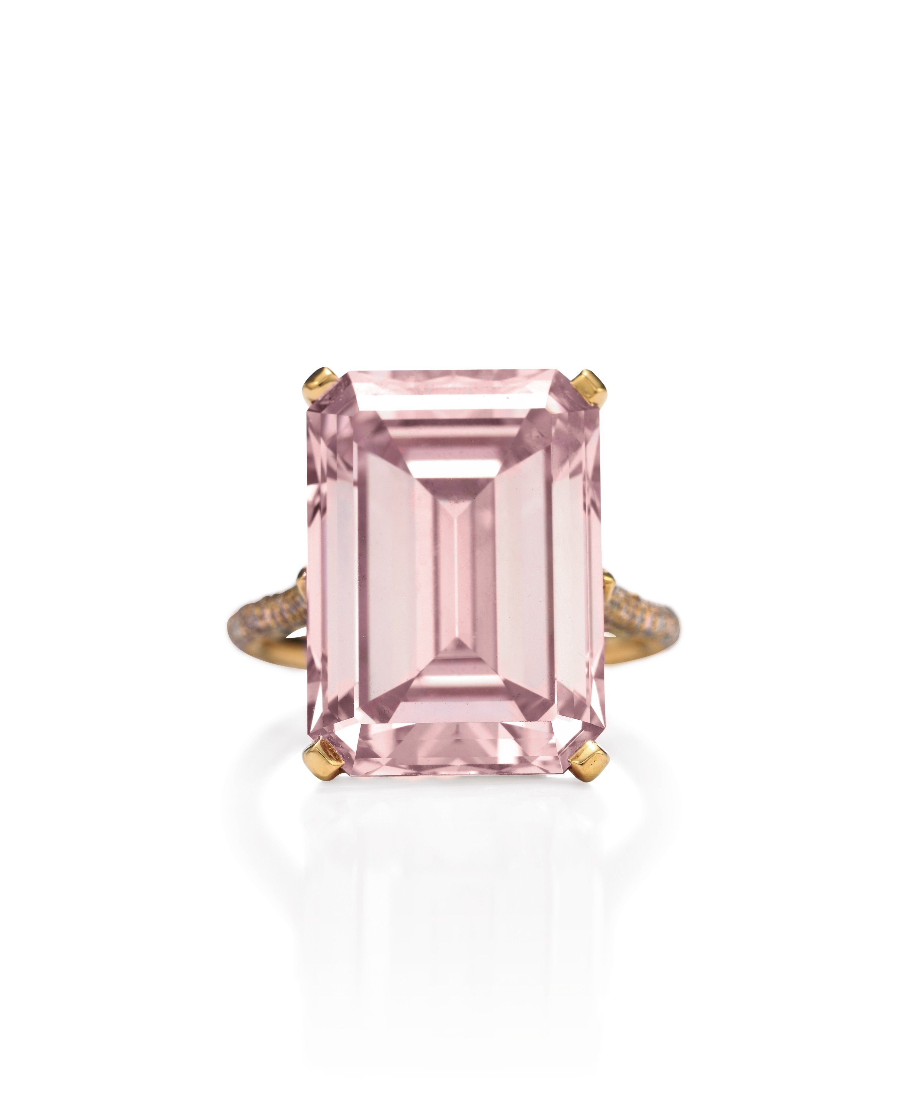 14.23-carat pink diamond, via Christie's April 2008 | See more about diamond engagement rings, pink diamonds and engagement rings.