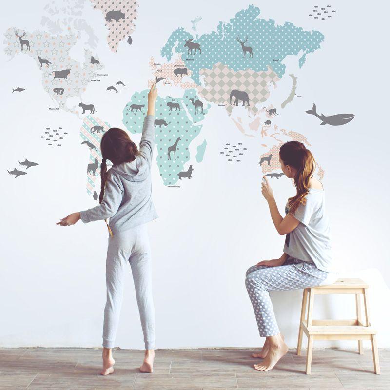 Pastel Map Dekornik Pl Wall Sticker Pastel Map Pastel