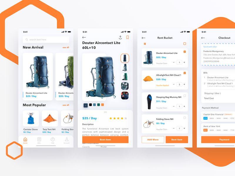 Outdoors Rent App Presentasi