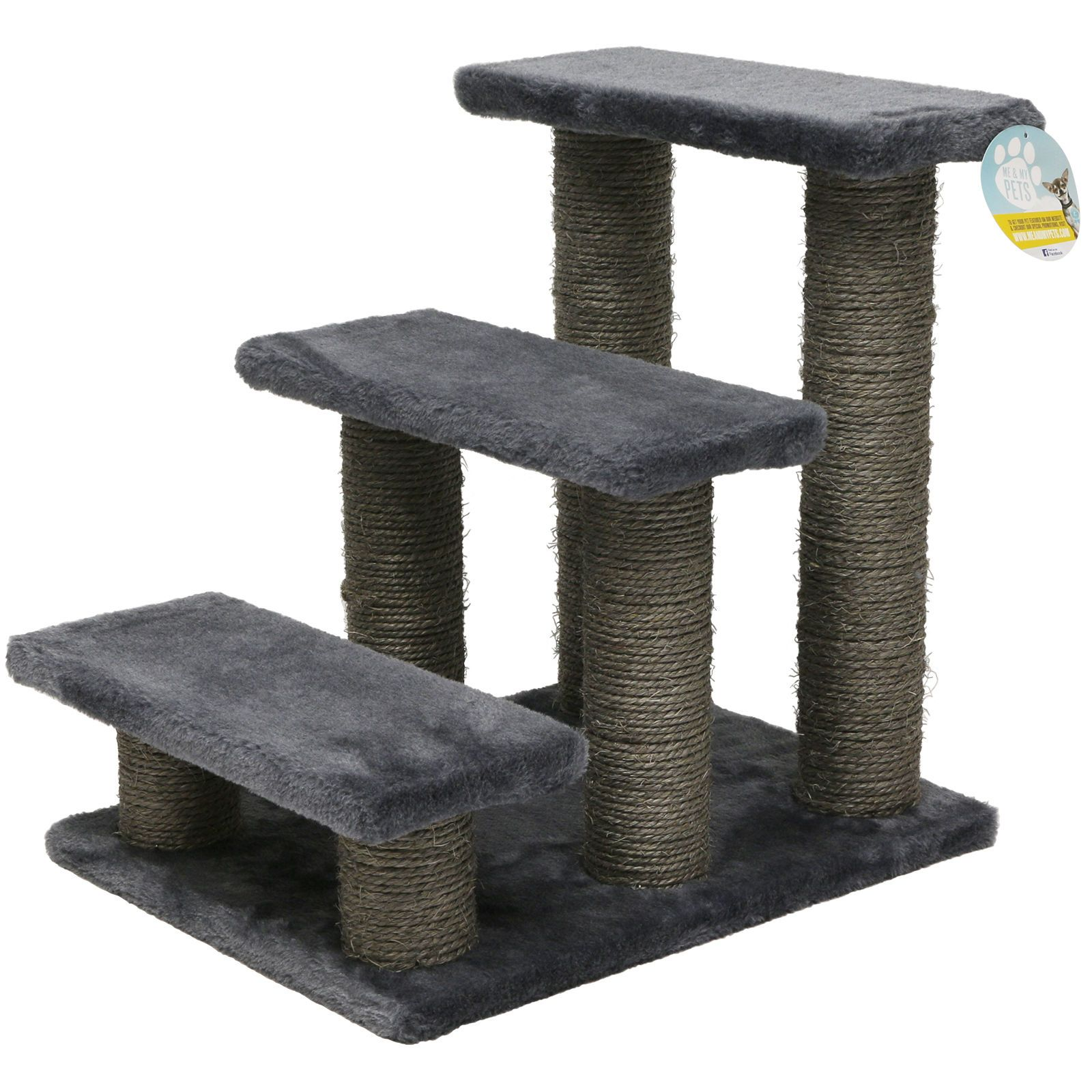 Me U0026 My Grey Pet Stairs Dog/cat/puppy Steps/ramp Car/sofa Soft Climb/lift  Aid