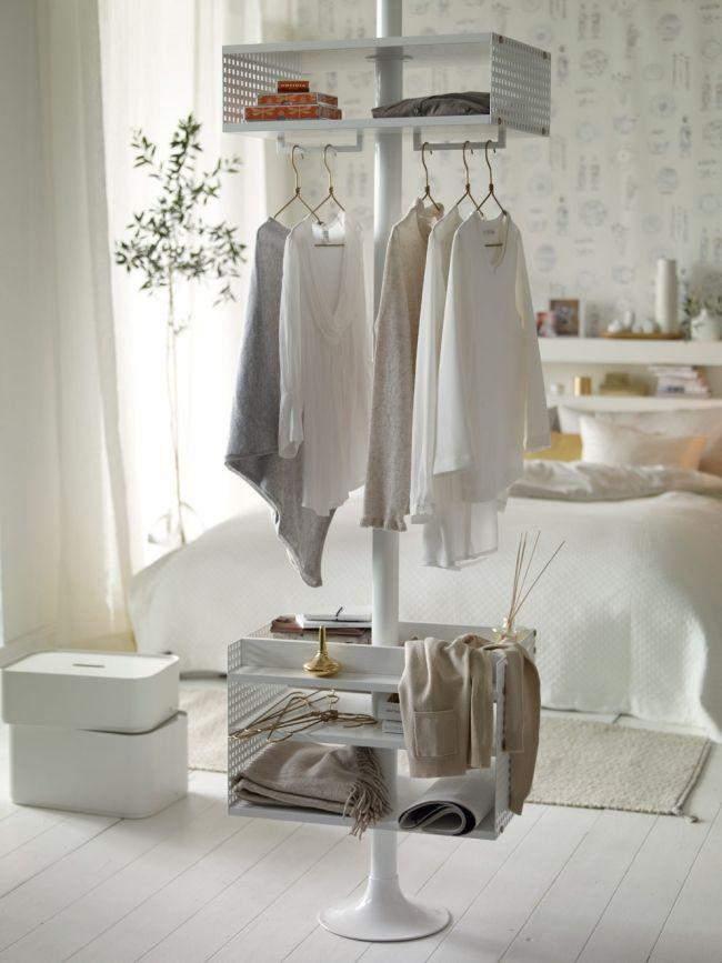 schlafzimmer skandinavischen weiß gold kleiderständer ... - Kleiderablage Im Schlafzimmer Kreative Wohnideen