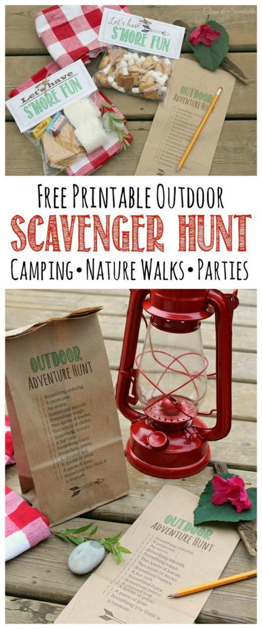 Outdoor Scavenger Hunt and S'mores Printables - Clean and Scentsible