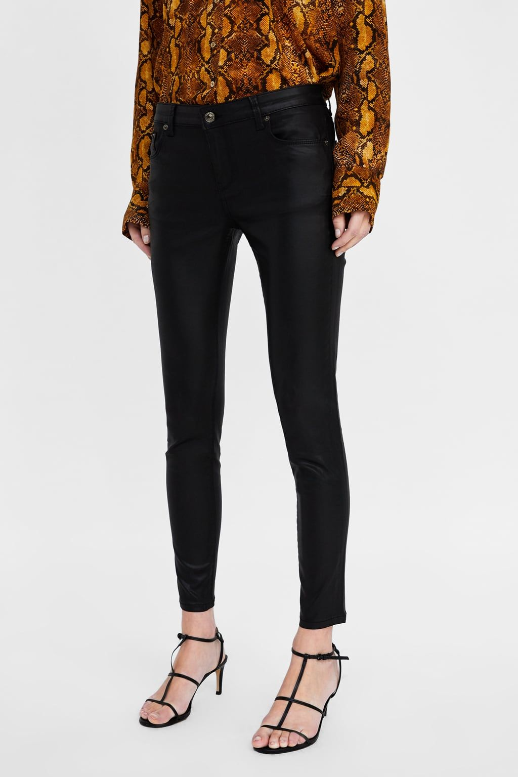 b0916c32 Zw premium skinny coated jeans in 2019   Zara Wishlist   Jeans ...