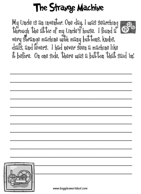 english creative writing worksheets for grade 5