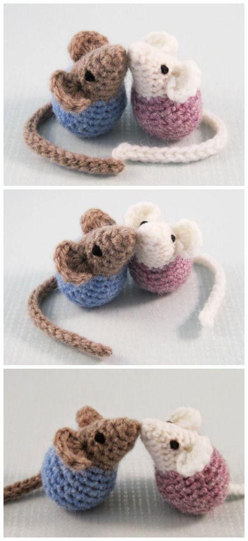 Amigurumi Little Mouse Crochet Free Patterns #cutecrochet