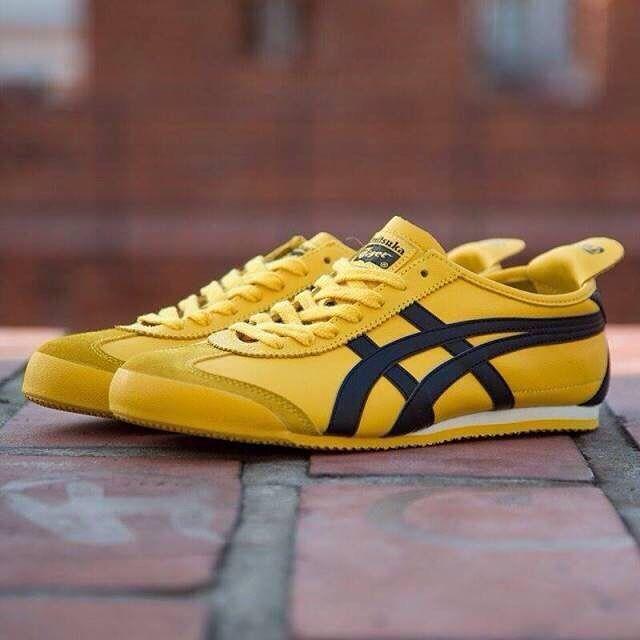 asics tiger mexico 66 yellow zip kit